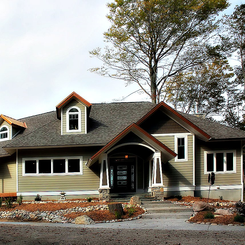 Lake Michigan Mission Style House