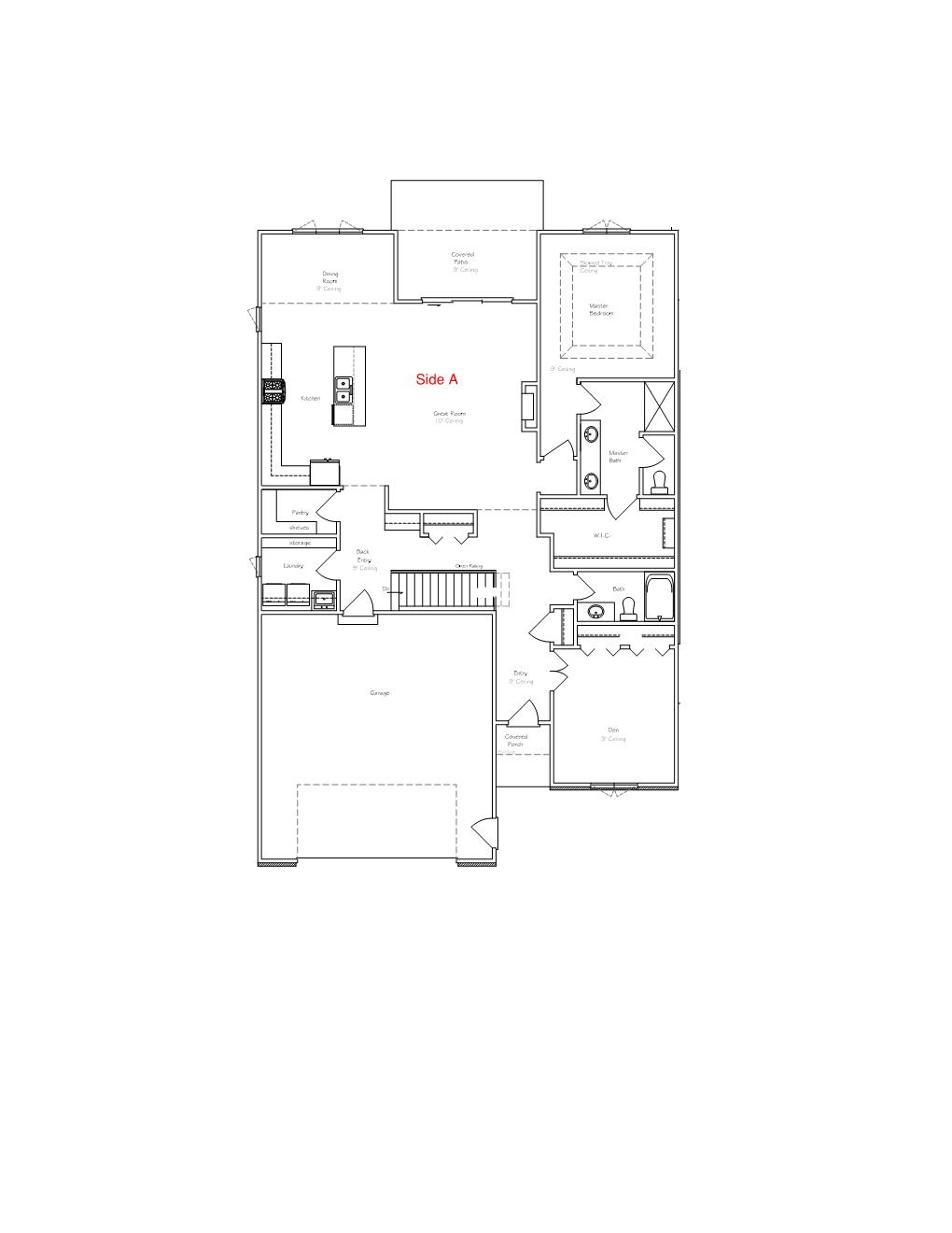 Floorplan for Main Floor A