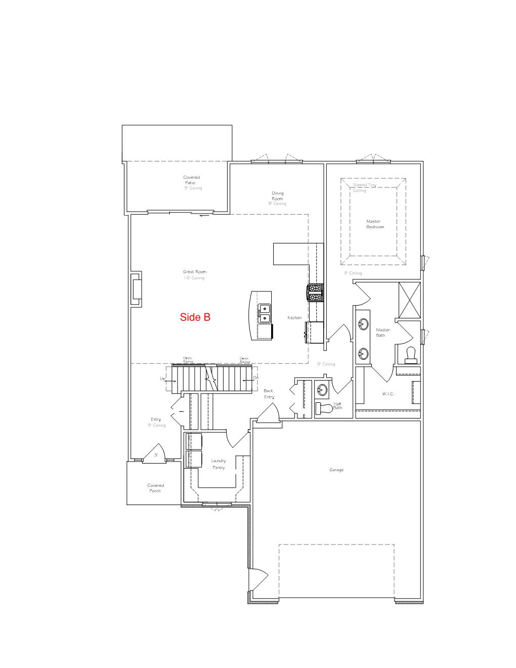 luxury twin home floor plan B