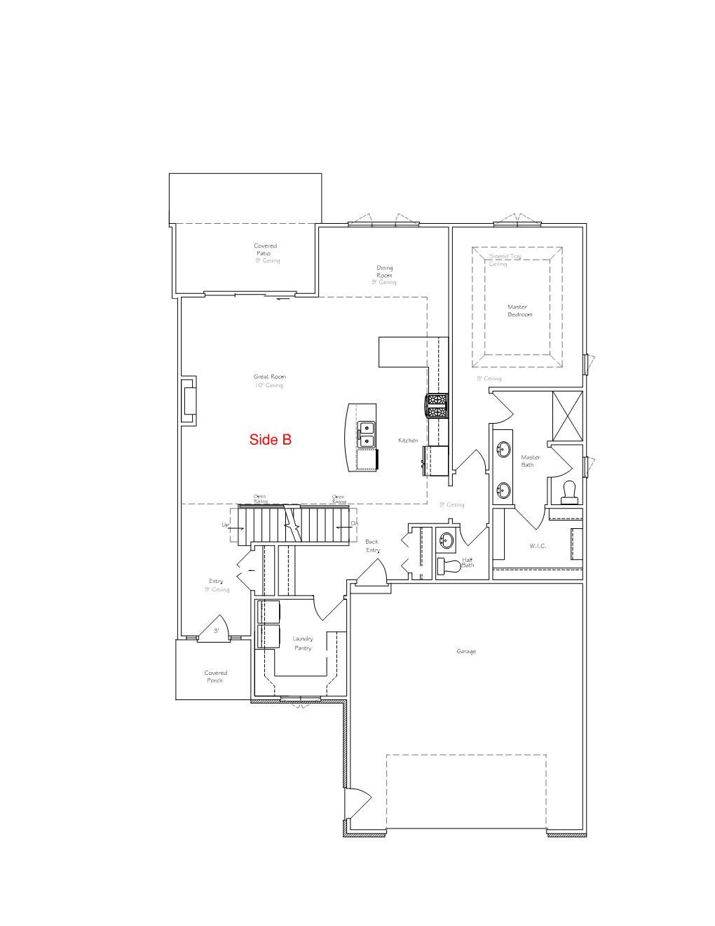 Floorplan for Main Floor B