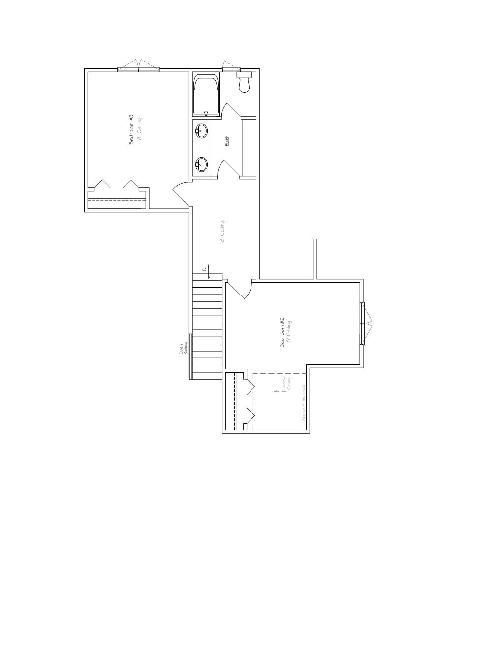 luxury twin home floor plan second B