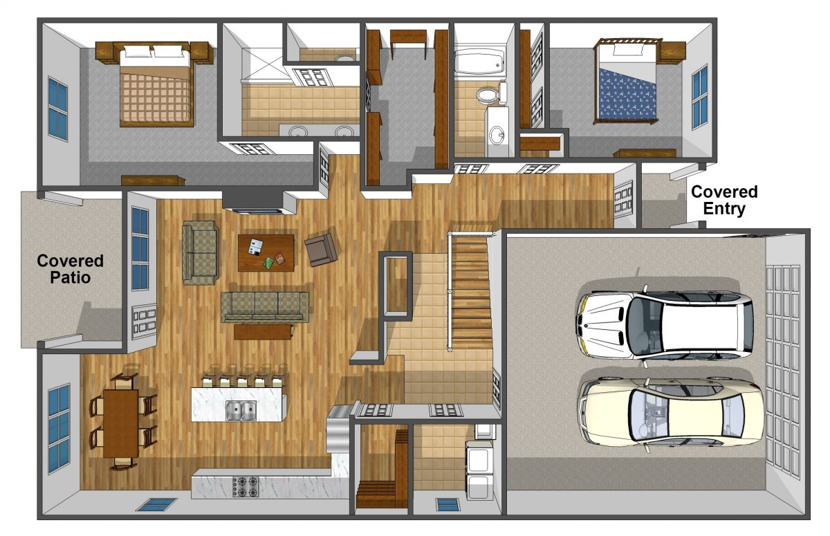 duplex floorplan