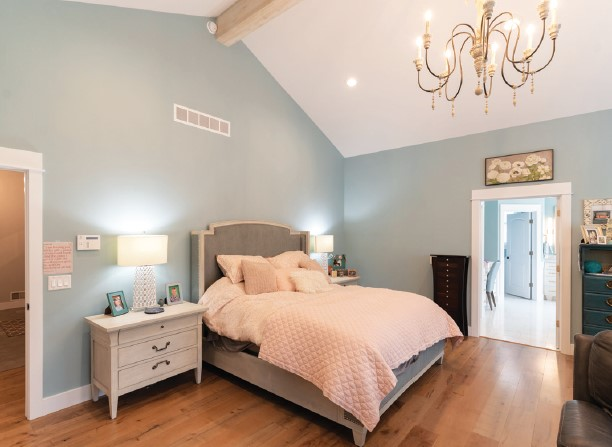 French Country Custom Home Bedroom